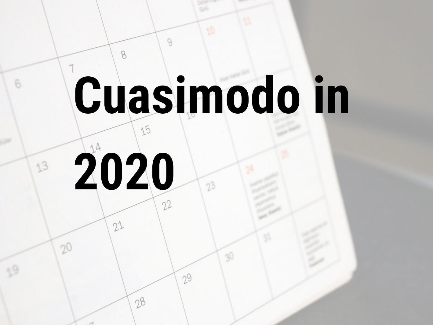 Calendario Islamico 2020.Cuasimodo 2020 Cuando Es Es Cuasimodo En 2020 Espana
