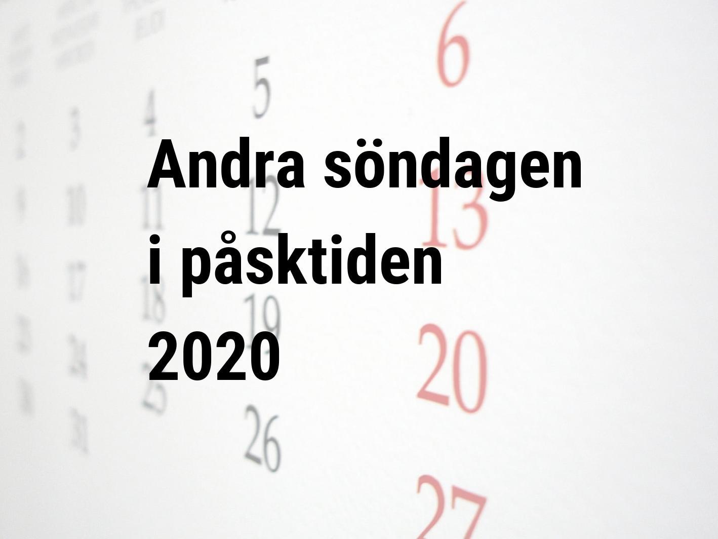 annandag påsk 2020